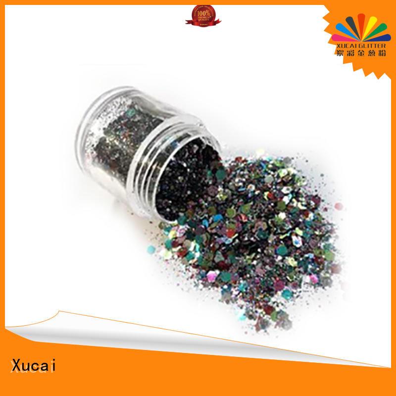 Xucai metallic glitter with pe inner pack for glass