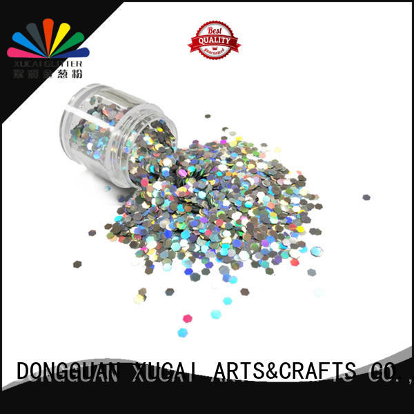 gold description friendly XUCAI Brand holographic nail powder manufacture