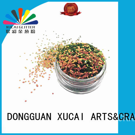 Xucai shape glow in the dark glitter for craft