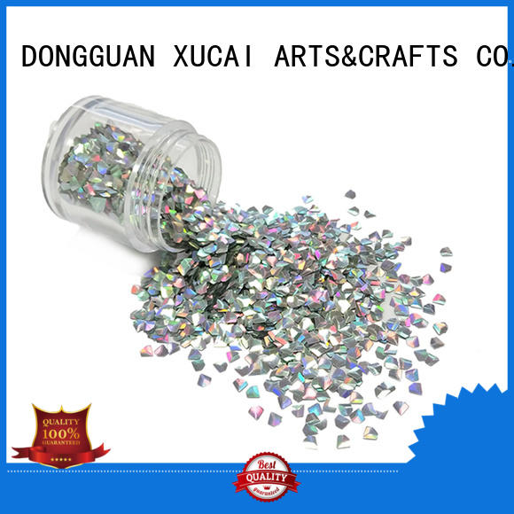 bulk Custom color UV glitter material XUCAI
