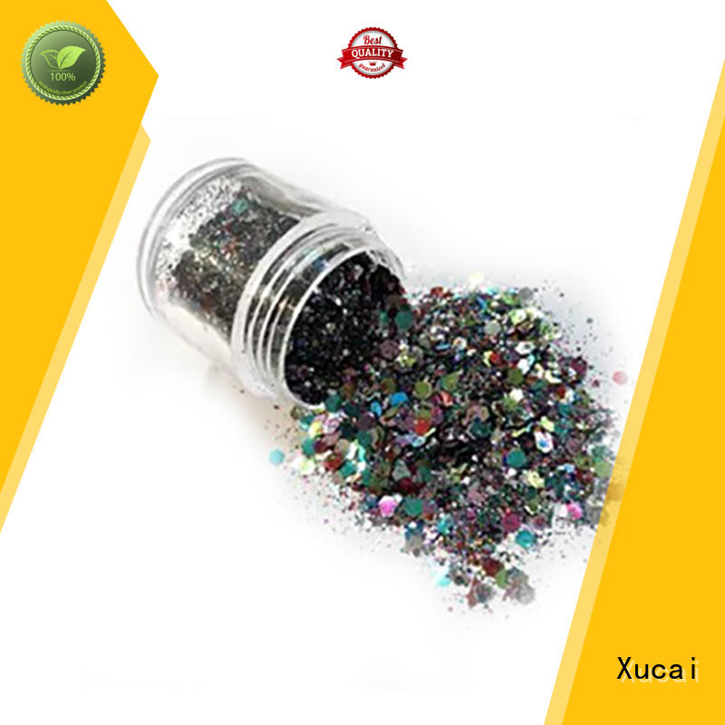 Xucai metallic glitter powder with pe inner pack for makeup