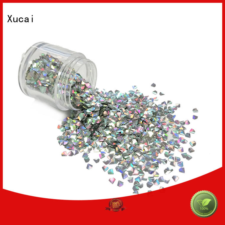 Xucai polyester glow in the dark glitter maker for makeup