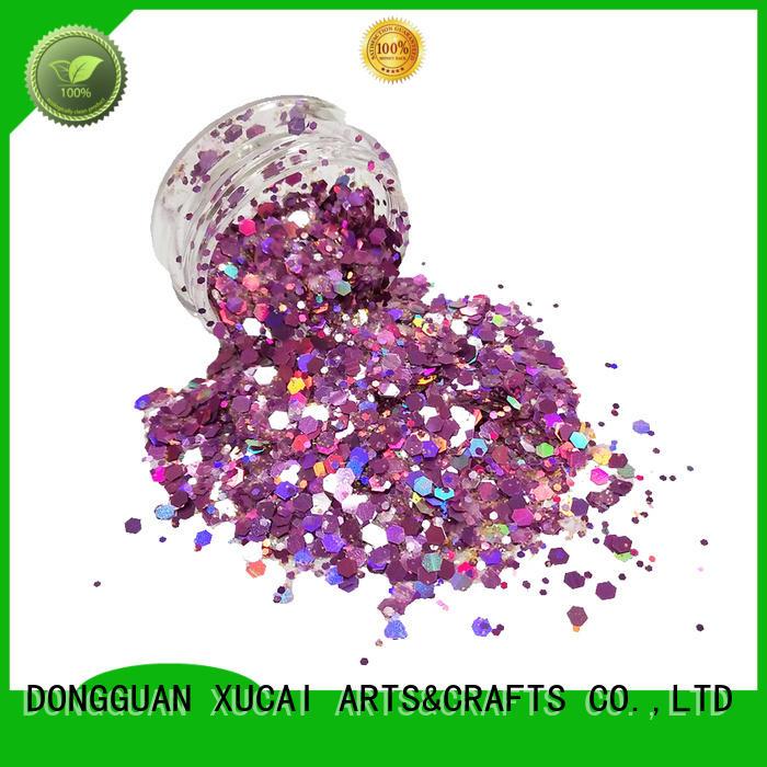 Hot decoration chunky glitter nail mixed XUCAI Brand