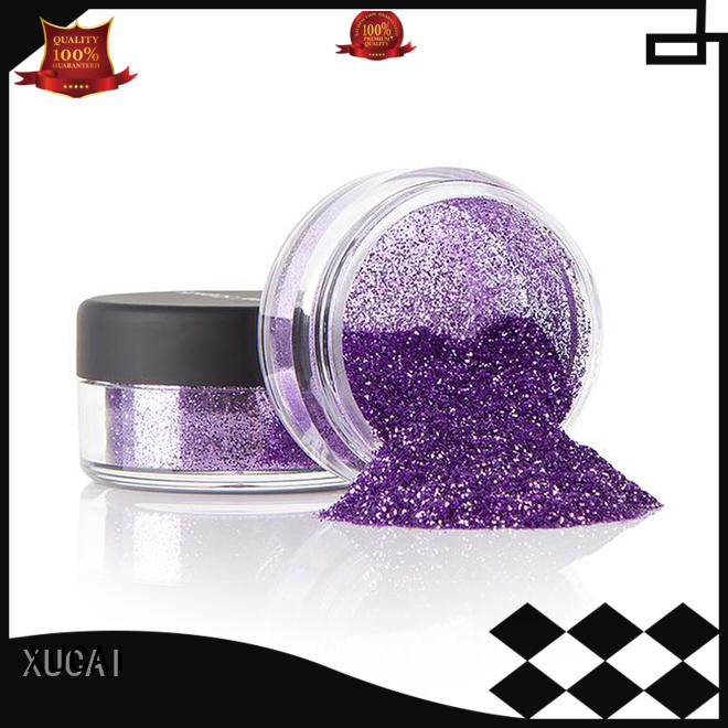 Hot polyester metallic glitters powder colorful XUCAI Brand