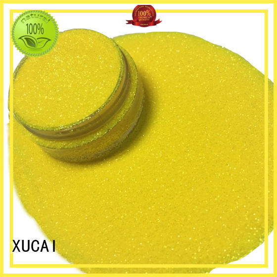 Custom yellow safe neon glitter XUCAI nontoxic