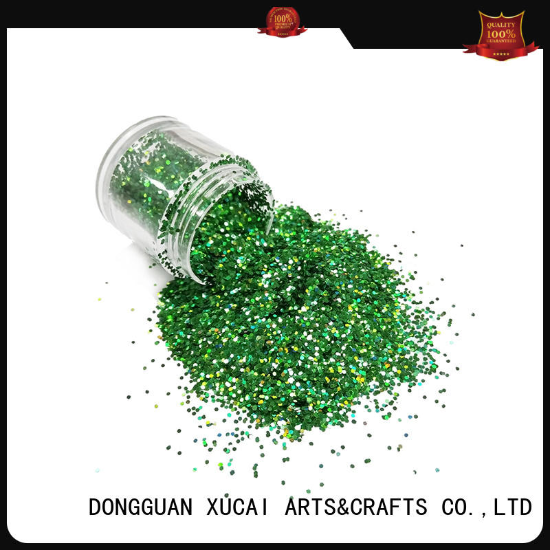 Xucai gold glitter factory supplier for christmas decoration