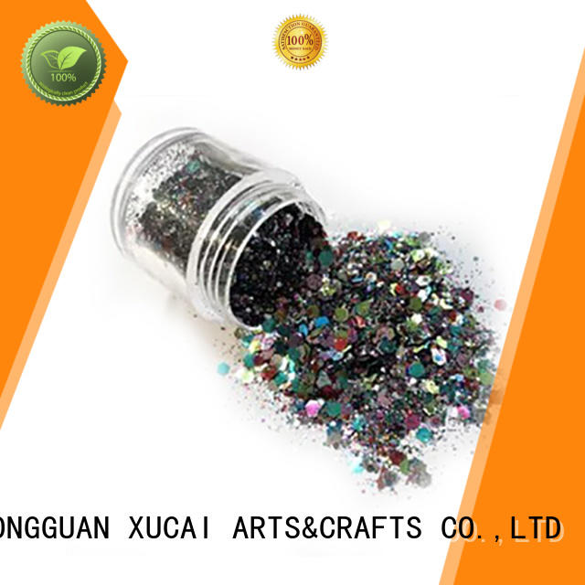 Xucai decorations glitter powder manufacturer for leather