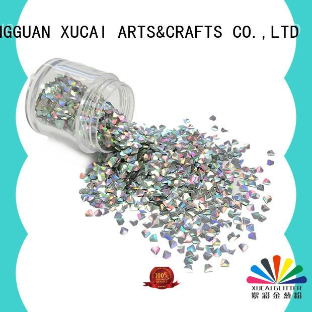 Xucai various shape color shifting glitter manufacturer for nail art makeup