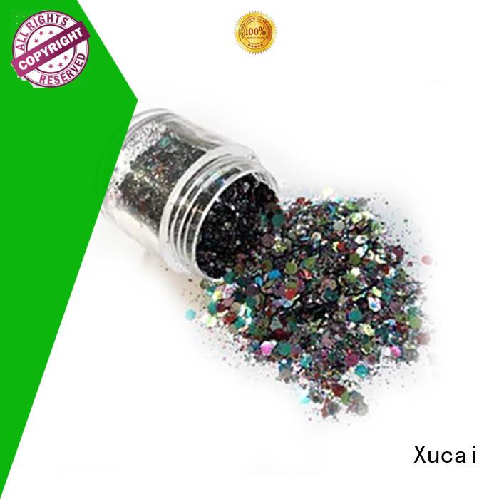 Xucai multi color metallic glitter eyeshadow heat resistance for fabric