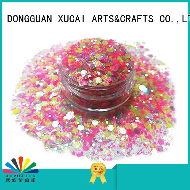 Xucai multi color chunky festival glitter manufacturer for face and body decoration