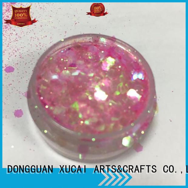 XUCAI Brand chunky festival nail glitter chunky glitter