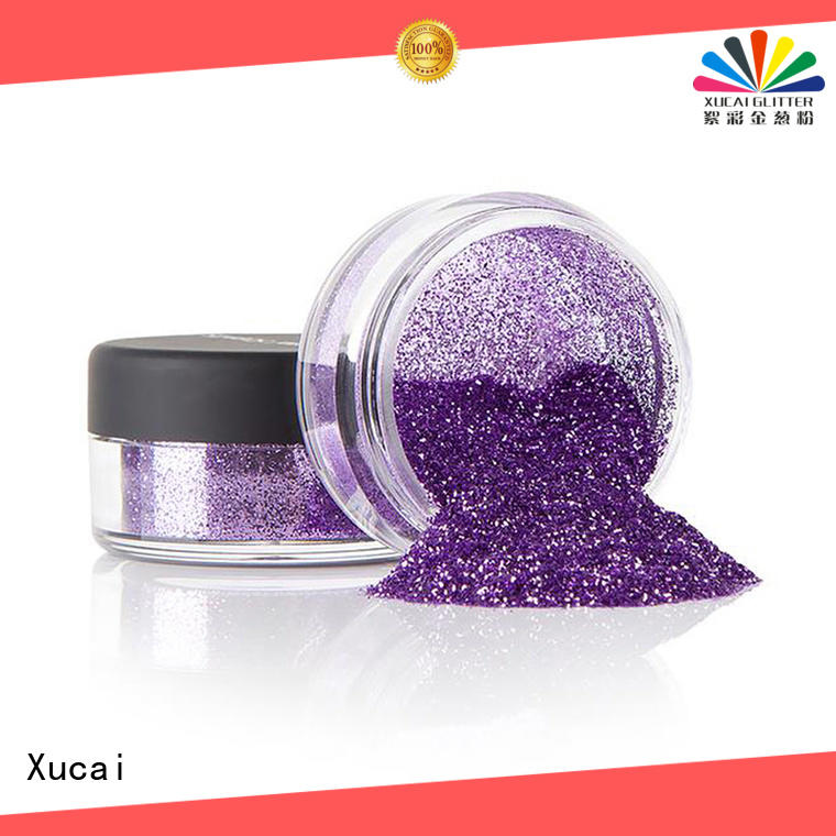 Xucai colorful glitter with pe inner pack for glass