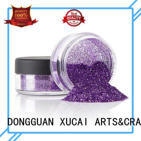 Xucai polyester colorful glitter manufacturer for glass
