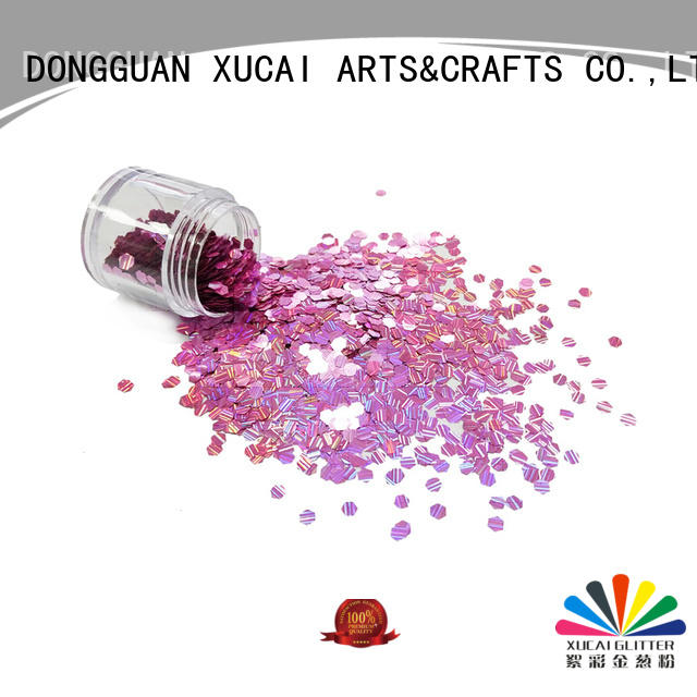 Xucai wholesale glitter laser rede for arts