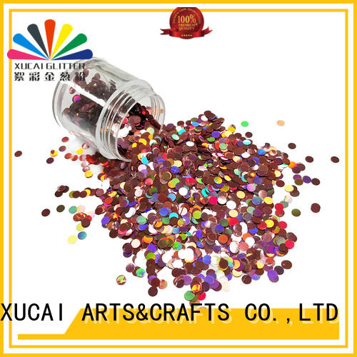 Xucai powder silver holographic glitter laser rede for arts