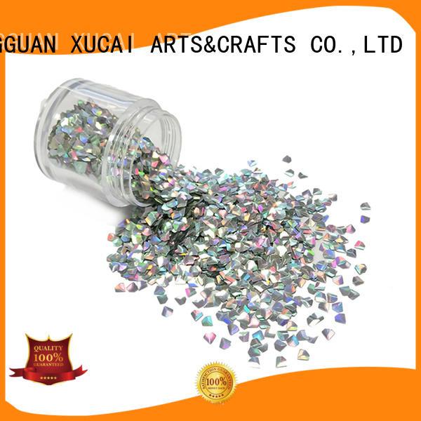 XUCAI orange glitter powder for printing