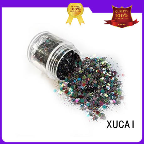 XUCAI eco friendly colorful glitter manufacturer for glass