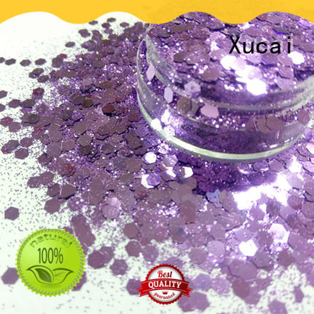 Xucai polyester chunky gold glitter price for nail decoration