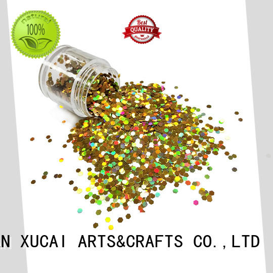 XUCAI solvent resistant face and body glitter manufacturer for crafts