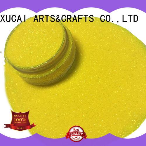 Xucai fashion iridescent face glitter customization for leather