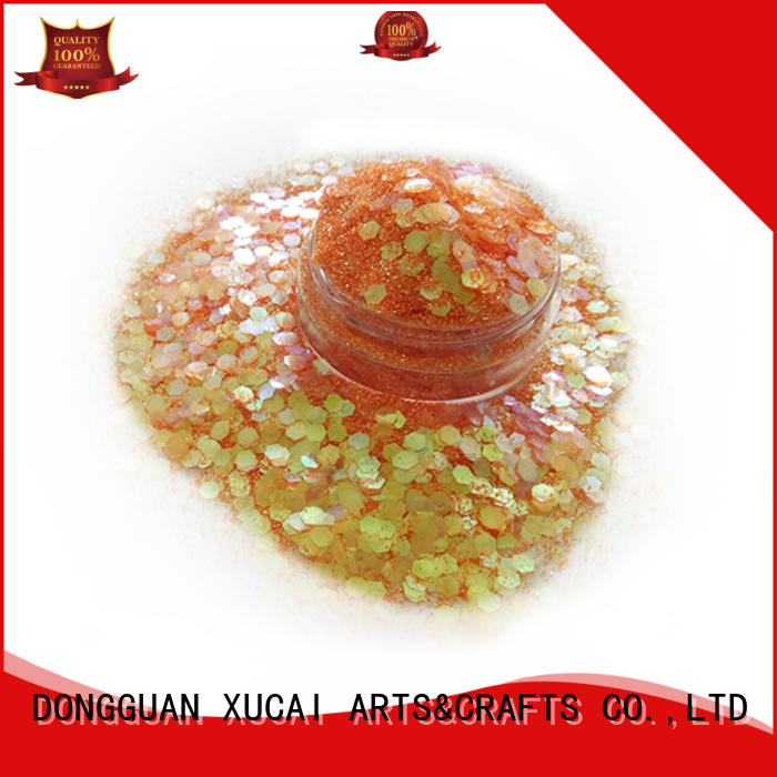 Xucai different colors chunky face glitter manufacturer for cosmetic
