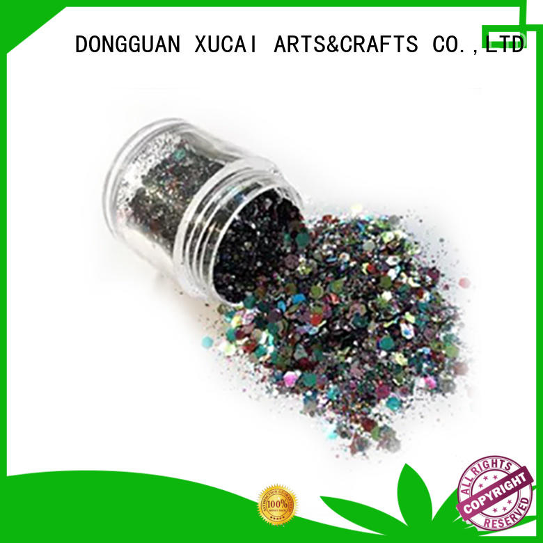 multicolor bulk polyester XUCAI Brand metallic glitters supplier