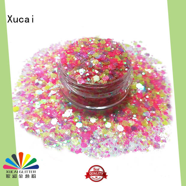 Xucai chunky festival glitter on sale for nail decoration