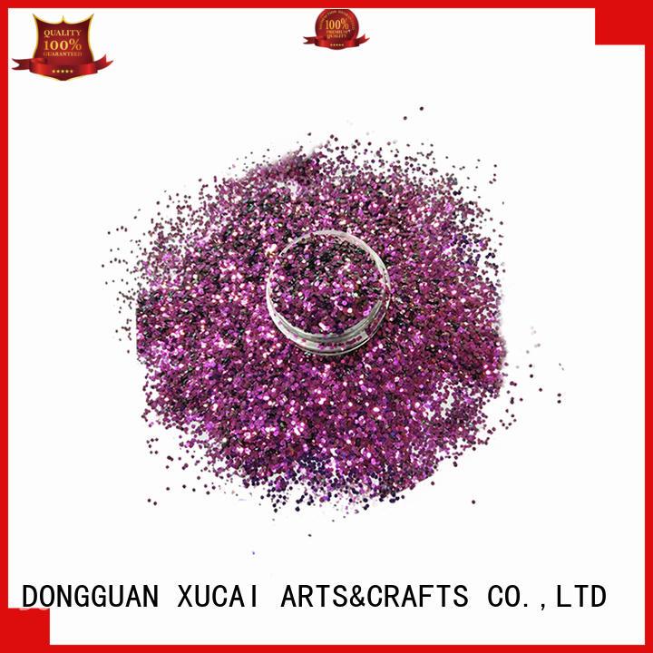 Xucai glitter wholesale glitter powder manufacturer for printing