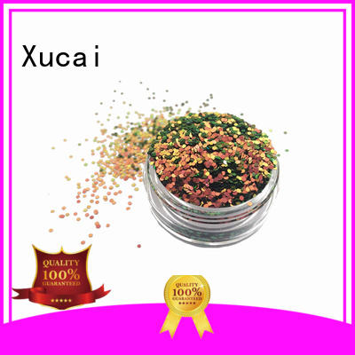 Xucai polyester biodegradable glitter manufacturer for craft