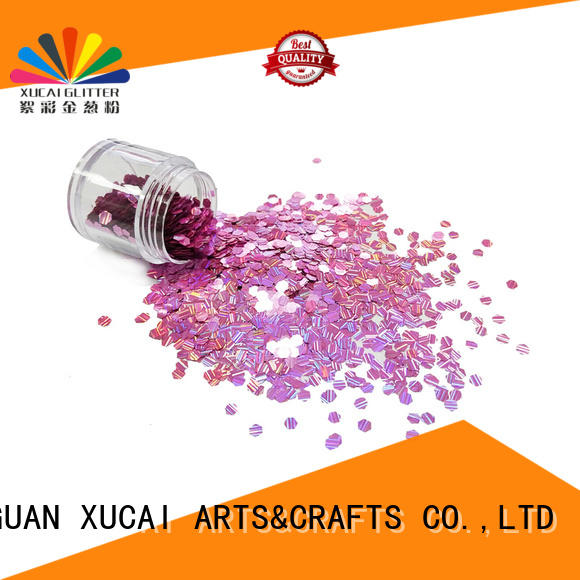 Xucai star fine holographic glitter laser rede for arts