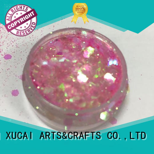 mixed Custom powder glitter chunky glitter XUCAI nail