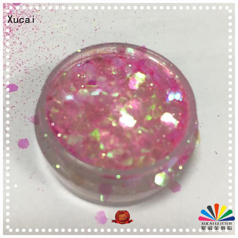 Xucai powder chunky glitter manufacturer for face and body decoration