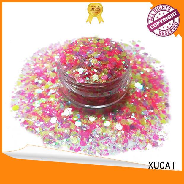 polyester bulk pet XUCAI Brand chunky glitter supplier