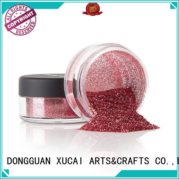 Xucai polyester glitter art manufacturer for paper printing
