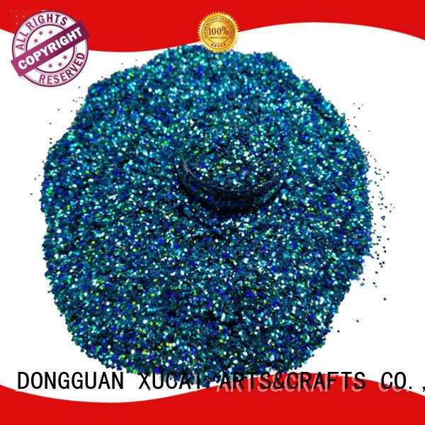 colors resistant holographic nail powder shape XUCAI company