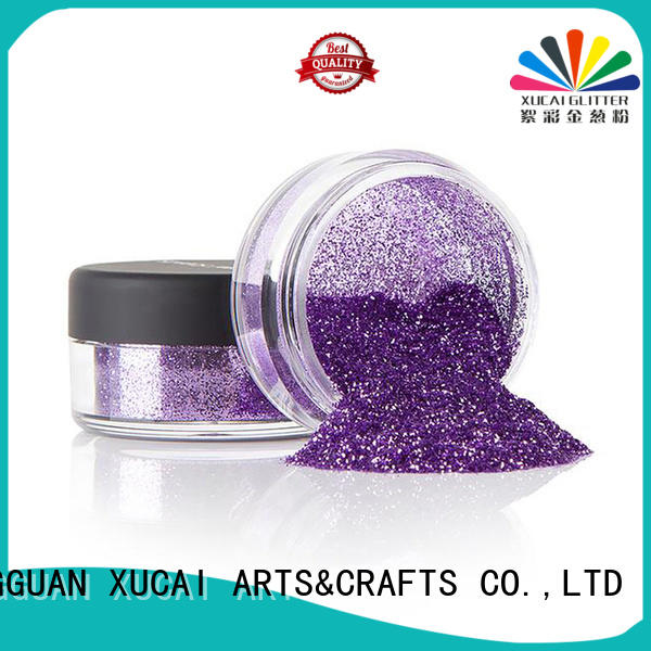XUCAI wholesale glitter with pe inner pack for leather