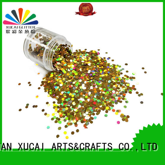 Xucai moon holographic glitter wholesale laser rede for crafts