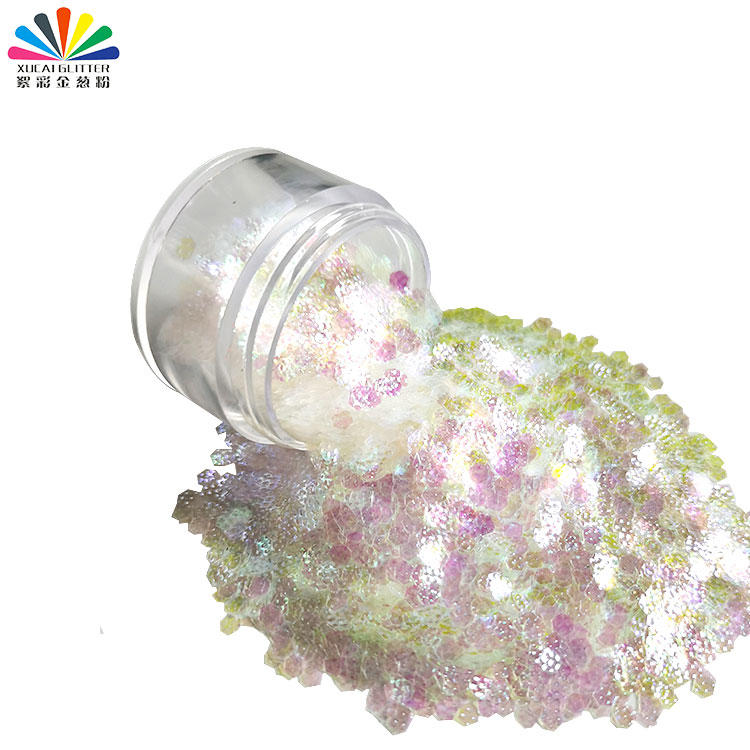 Nail Art Glitter Dust 3D Bump Polygon Shape Glitter