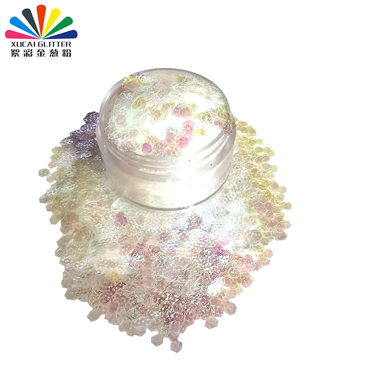 product-Xucai-Hot sales 3D Bump Polygon Shape Nail Art Glitter with competitive price-img