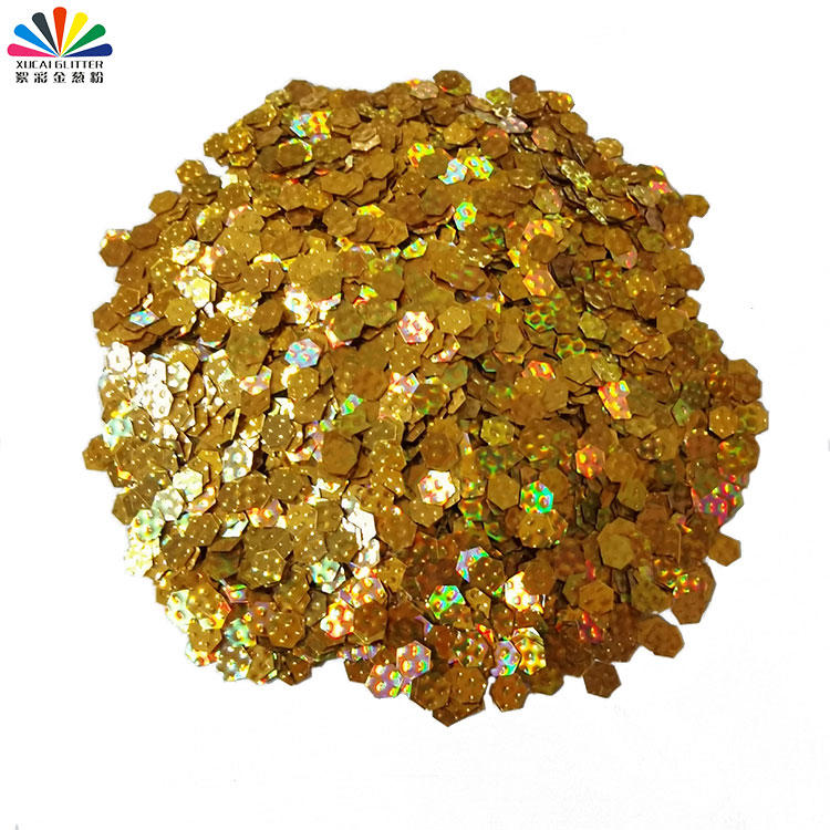 3D Polygon Nail Glitter Sequins for Craft, Wedding, Party