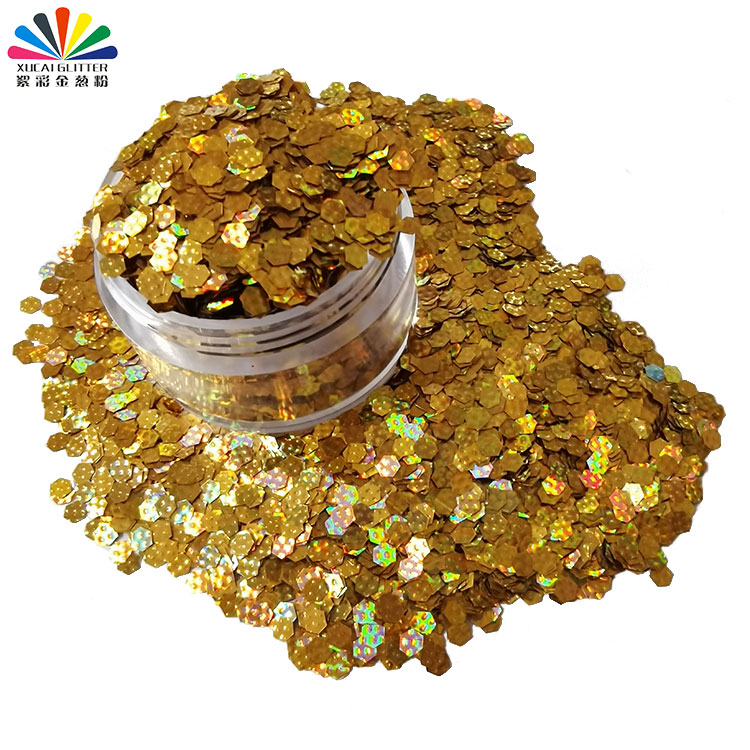 product-Xucai-3D Polygon Nail Glitter Sequins, Laser Holographic Glitter for Craft, Wedding, Party-i