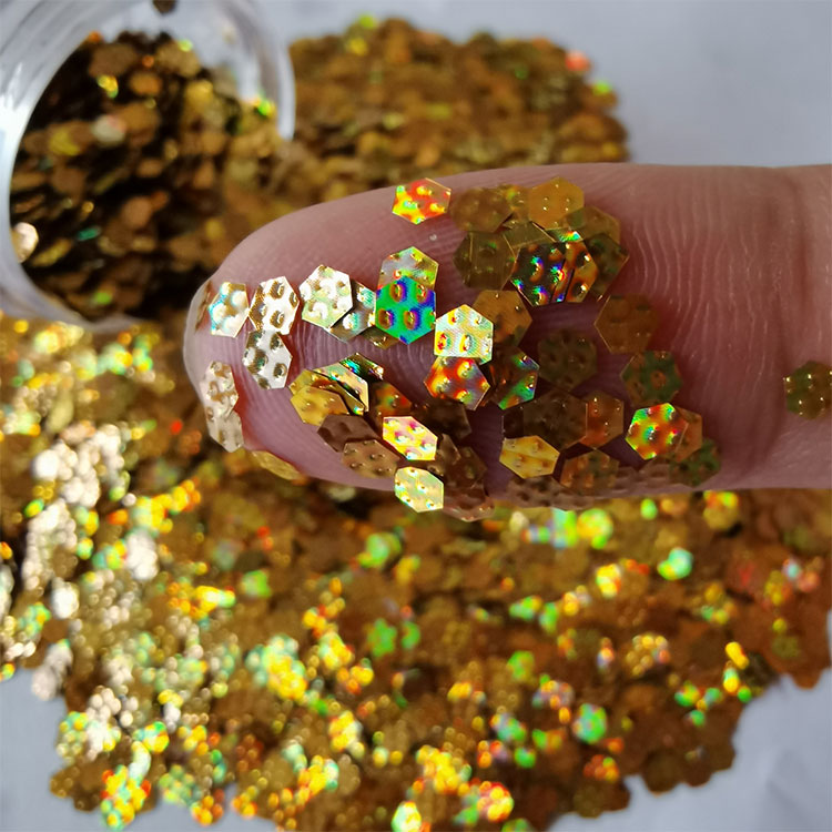 product-3D Polygon Nail Glitter Sequins, Laser Holographic Glitter for Craft, Wedding, Party-Xucai-i