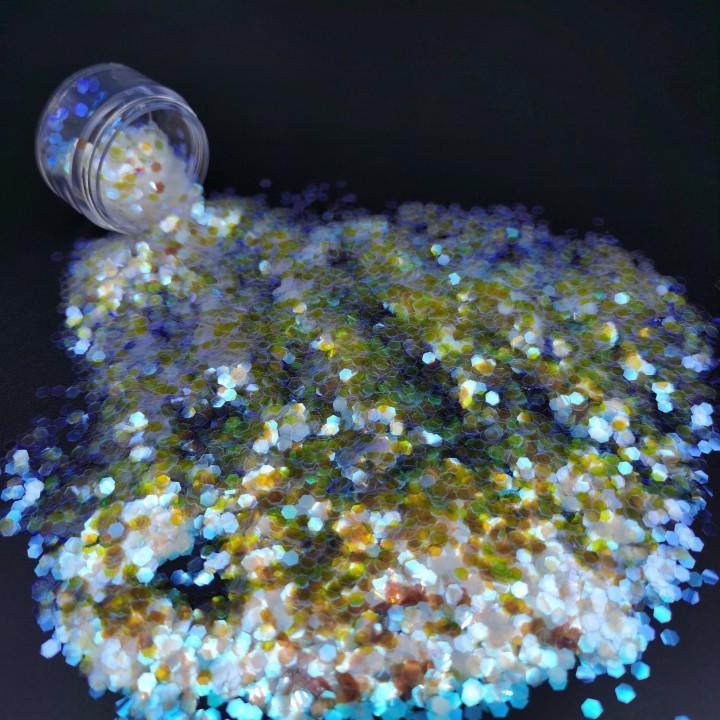 Color Glitter Powder 0.1MM Polygon Sequins 2020 Latest Gradient