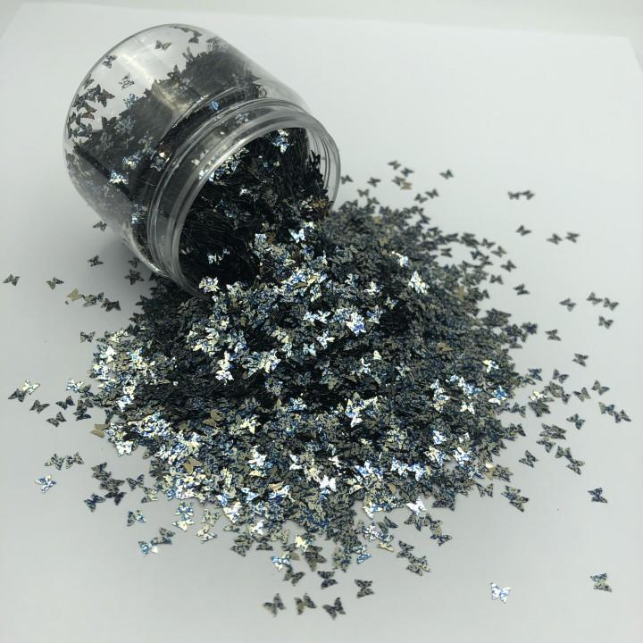 Wholesale Holographic Cosmetic Glitter Butterfly Shape Chunky Glitter