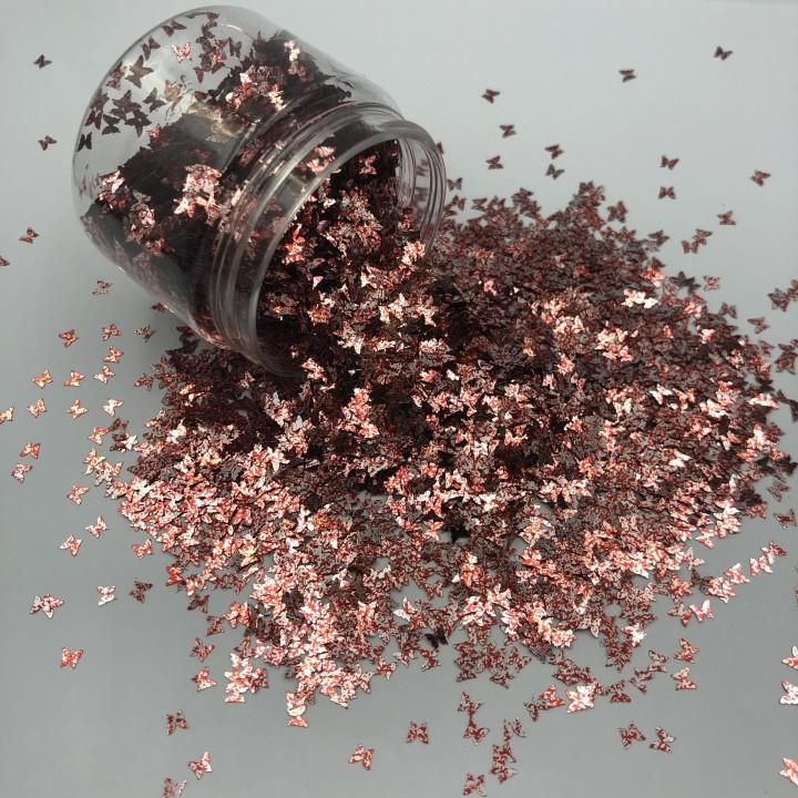 Wholesale Butterfly Shape Glitter Powder in Various Colors
