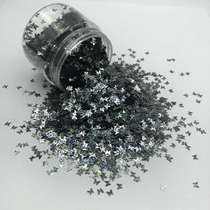 Wholesale Bulk Glitter Powder Art DIY Butterfly Shaped Glitter