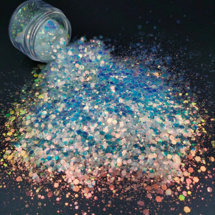 product-Bulk Wholesale PET Mix Fine Glitter Powder For Craft Decorations Nail Art Screen Printing Pa