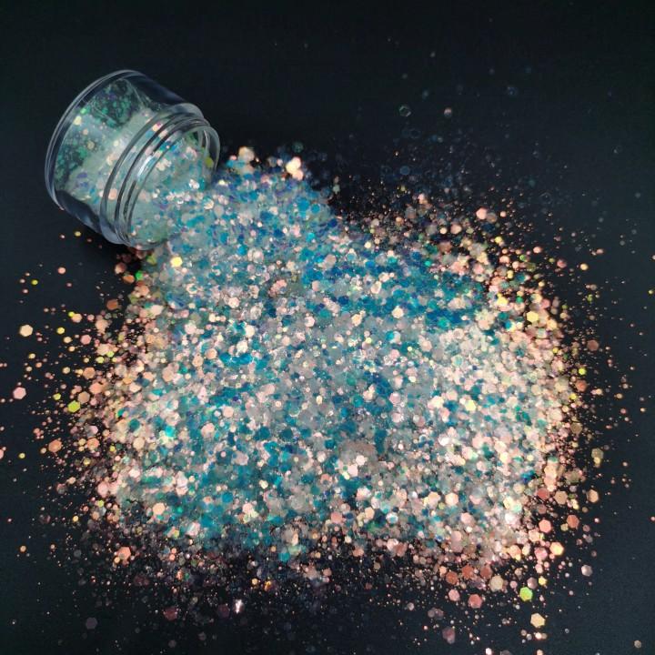 product-Xucai-Bulk Wholesale PET Mix Fine Glitter Powder For Craft Decorations Nail Art Screen Print